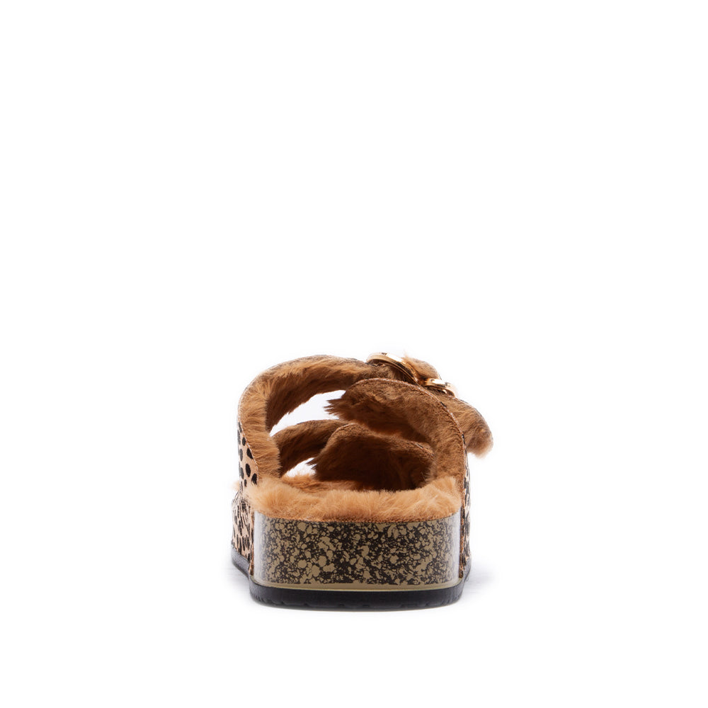 LUKA-37 TAN BLACK LEOPARD SUEDE PU BACK VIEW BACK VIEW