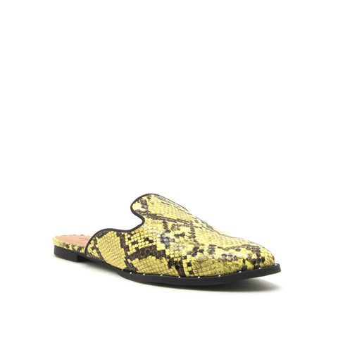 MALIBU-24 YELLOW/BLACK SNAKE PU