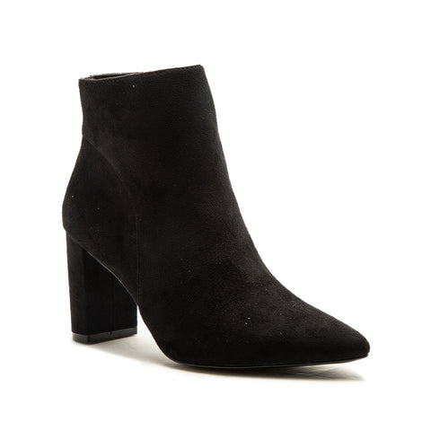 MEIER-20A BLACK STRETCH SUEDE PU