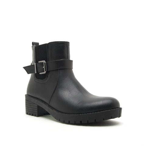MICHI-01 BLACK DISTRESS NUBUCK PU