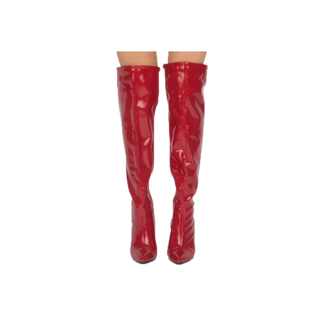 MILIA-127X RED CRINKLE PATENT
