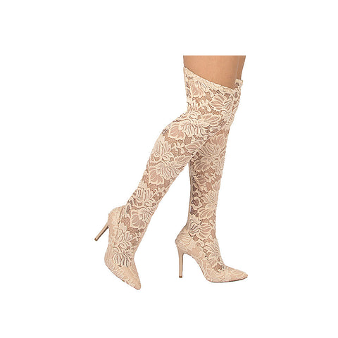 MILIA-91X NUDE STRETCH LACE FABRIC