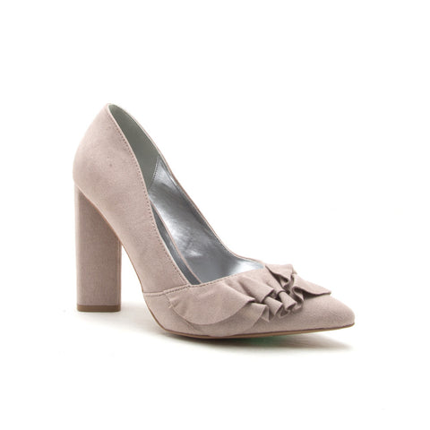 MISS-37 TAUPE STRETCH SUEDE