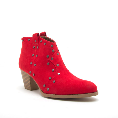 MORRISON-10X RED SUEDE PU