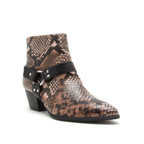 MYSTIQUE-56X LIGHT BROWN MULTI SNAKE PU