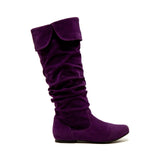 Qupid Wholesale NEO-100XX Purple Suede 1/2 View
