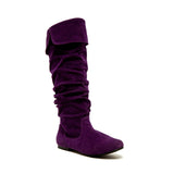 Qupid Wholesale NEO-100XX Purple Suede 1/4 View