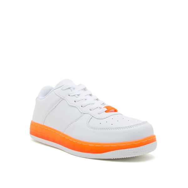 NOMA-01 WHITE NEON ORANGE PU 1/4 VIEW