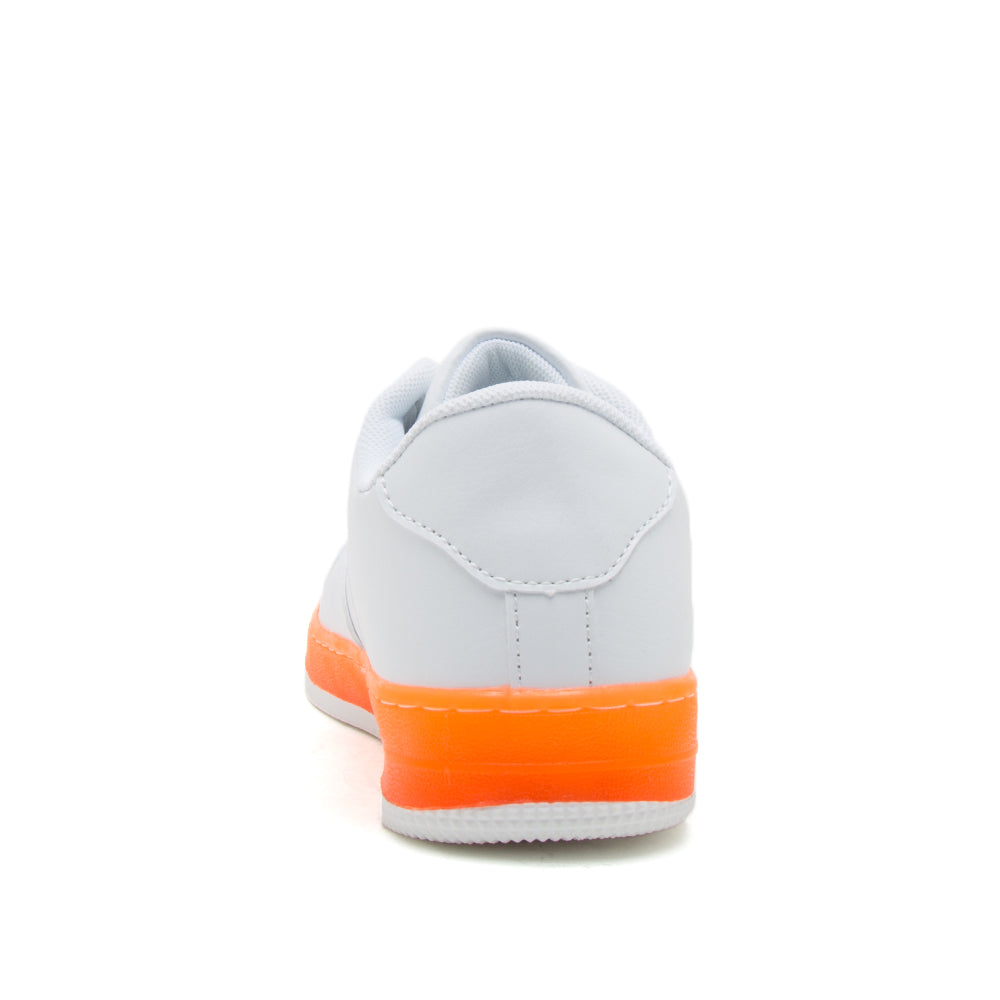 NOMA-01 WHITE NEON ORANGE PU BACK VIEW