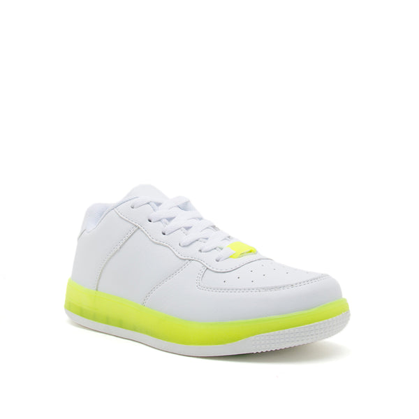 NOMA-01 WHITE NEON YELLOW PU 1/4 VIEW