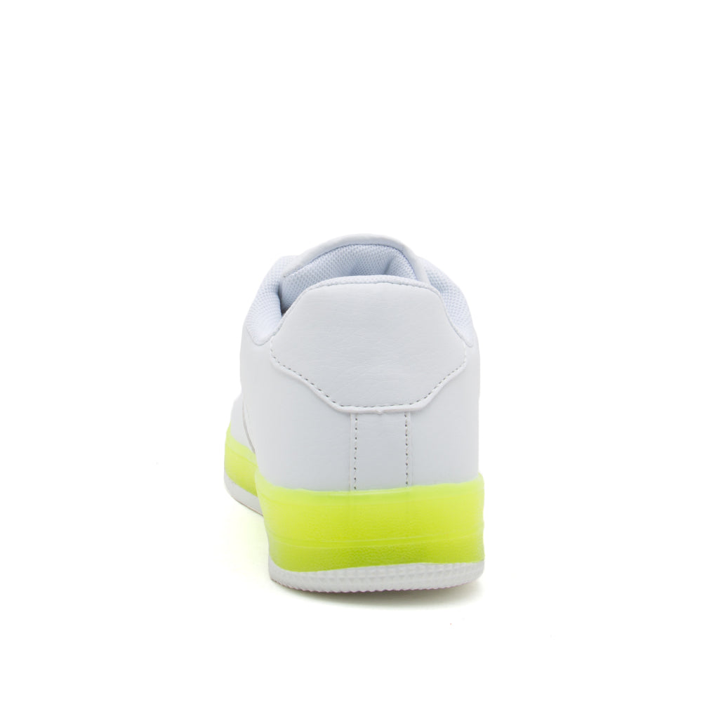 NOMA-01 WHITE NEON YELLOW PU BACK VIEW