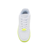 NOMA-01 WHITE NEON YELLOW PU FRONT VIEW