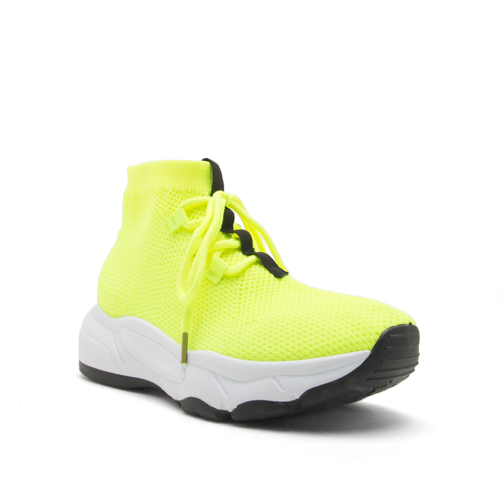 Qupid Wholesale OMNI-03 NEON YELLOW 1/4 VIEW