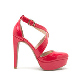 PITRI-12 RED PATENT PU