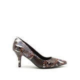 PORTIA-01 BROWN MULTI SNAKE PU
