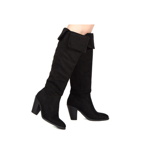 PRISM-25 BLACK STRETCH SUEDE PU