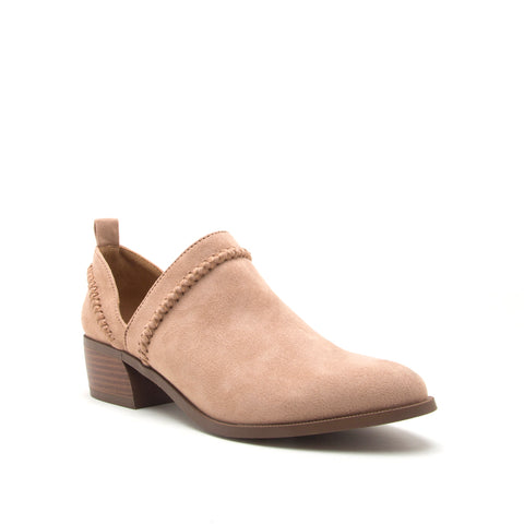 RAGER-24 WARM TAUPE STRETCH SUEDE PU