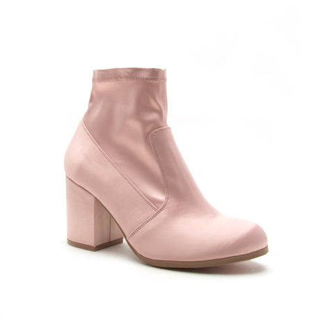 RANNEL-17 BLUSH STRETCH SATIN