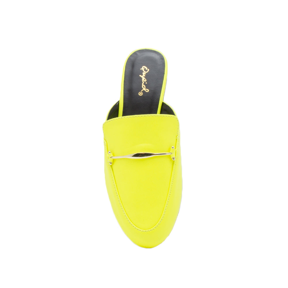 REGENT-79 NEON YELLOW PU FRONT VIEW