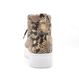 ROYAL-10AX BEIGE BLACK SNAKE PU