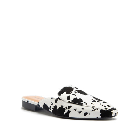 SANG-04 WHITE BLACK CALF SUEDE PU