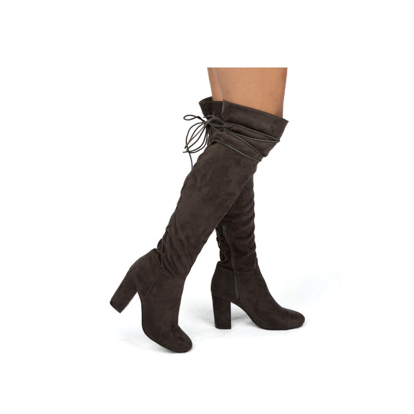 SENTNEY-01X CHARCOAL STRETCH SUEDE PU