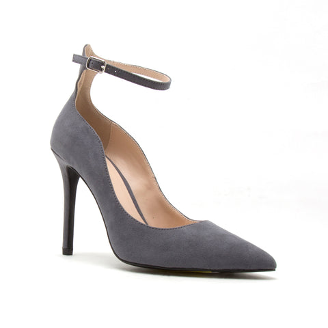 SHOW-08 STEEL GREY SUEDE PU