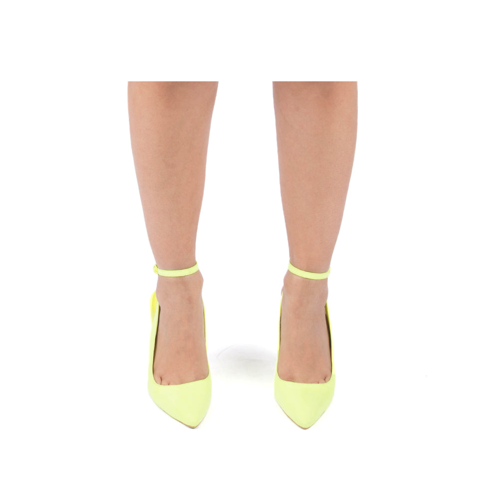 SHOW-145 NEON YELLOW SUEDE PU