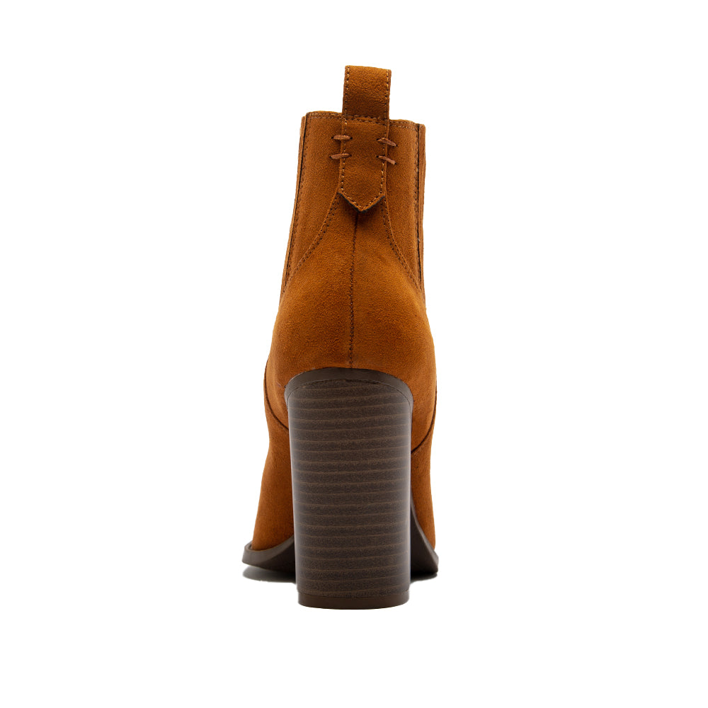 SLAY-40 CHESTNUT SUEDE PU BACK VIEW