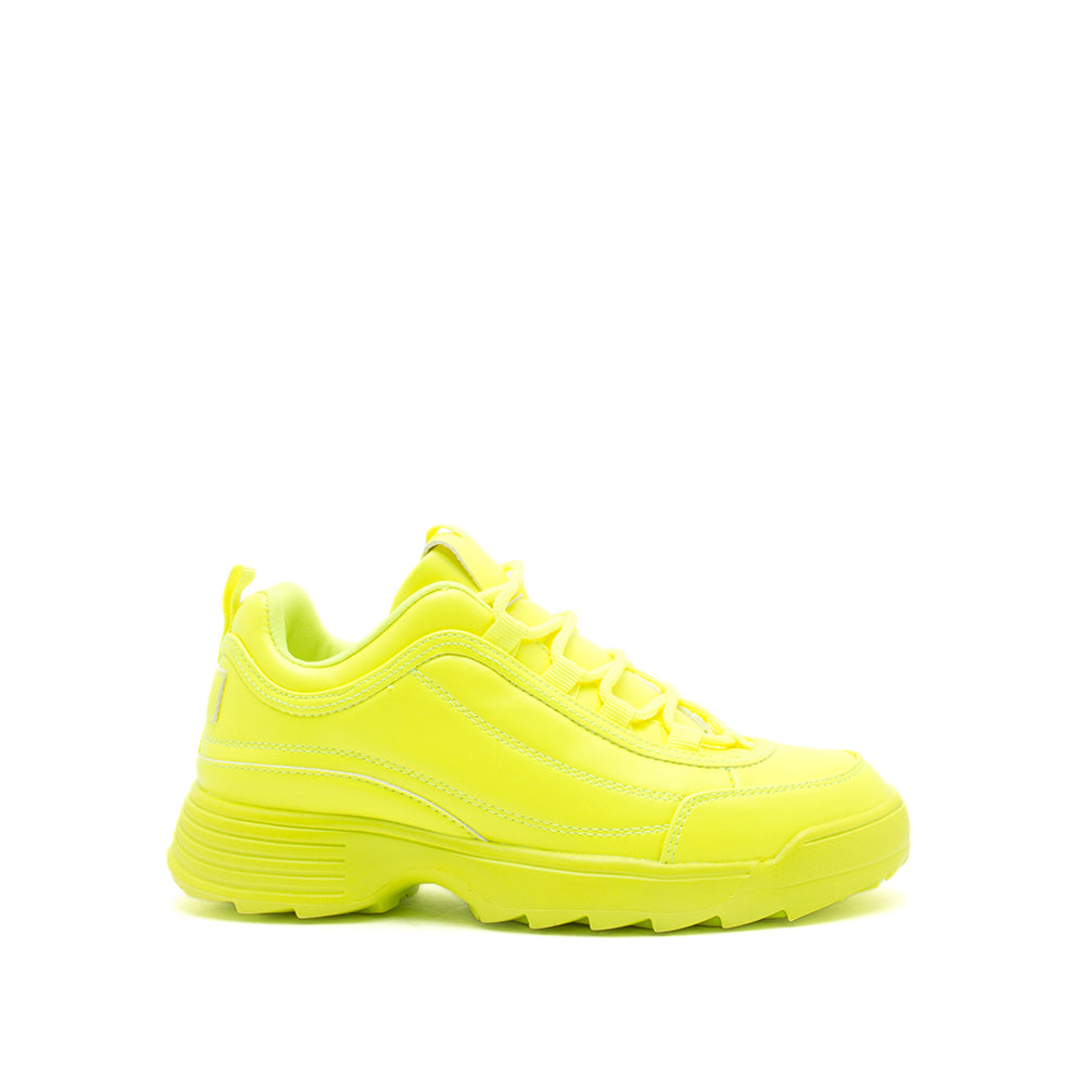 SNEAKY-01X NEON YELLOW 1/2 VIEW