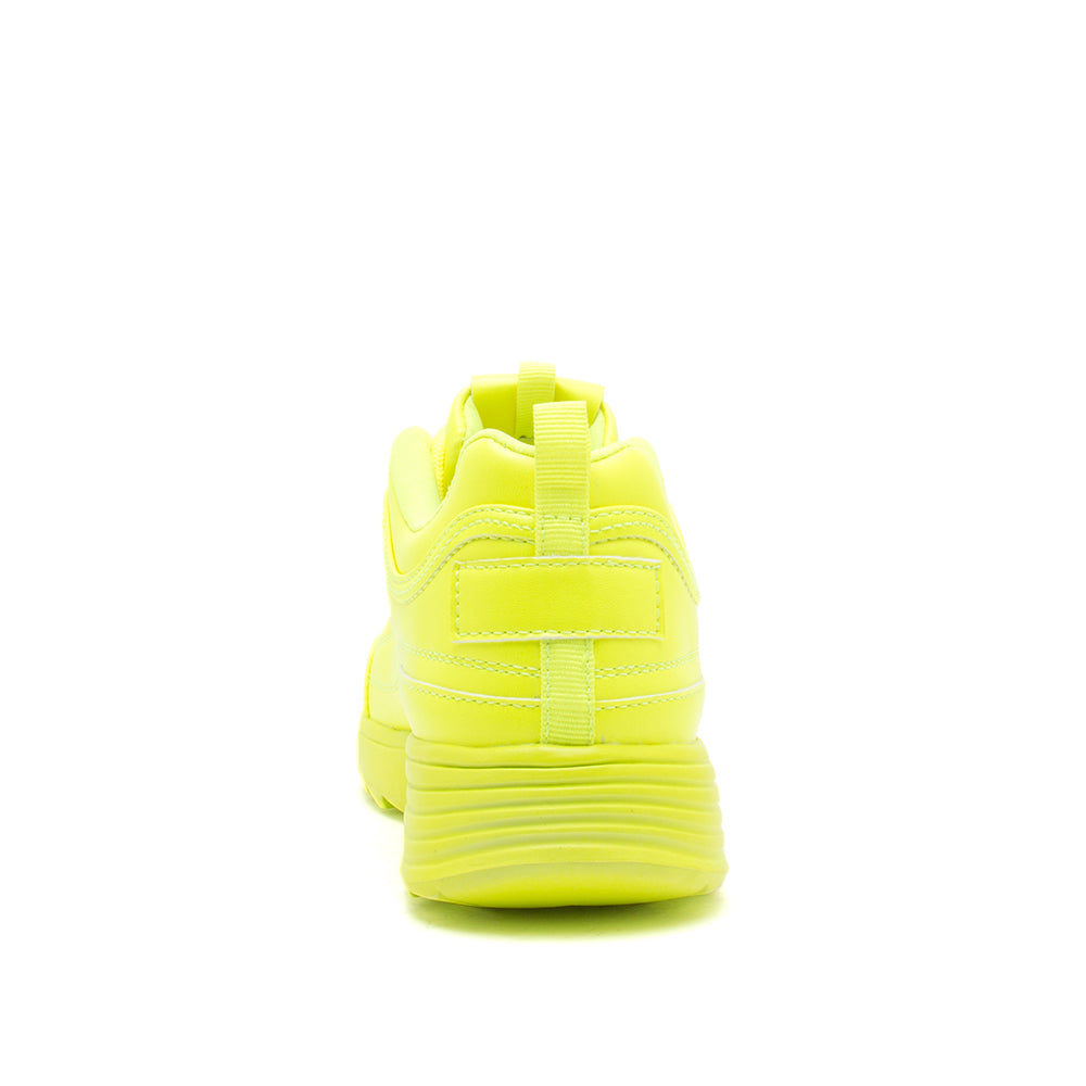 SNEAKY-01X NEON YELLOW BACK VIEW