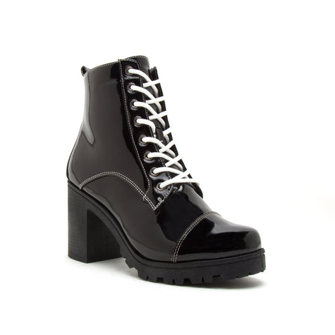 SORRENTO-39BX BLACK PATENT PU