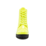 SORRENTO-39BX NEON YELLOW PATENT PU FRONT VIEW