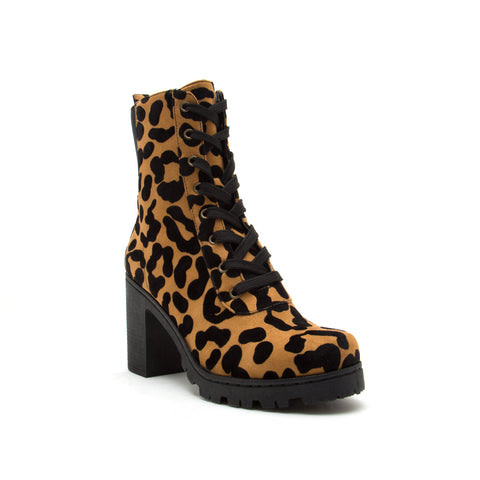 SORRENTO-47BX CAMEL BLACK STRETCH LEOPARD SUEDE