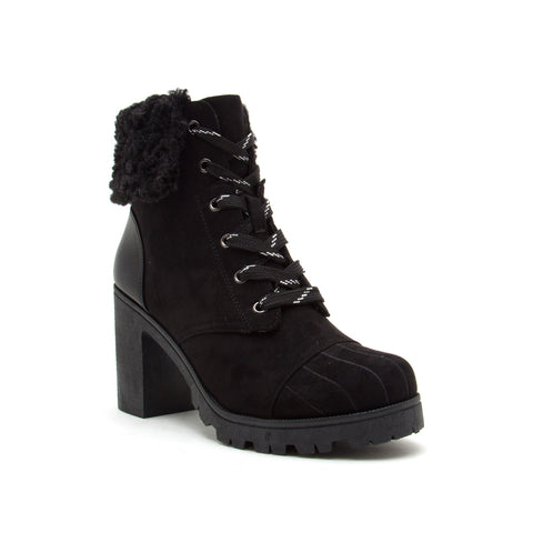 SORRENTO-54BX BLACK SUEDE PU