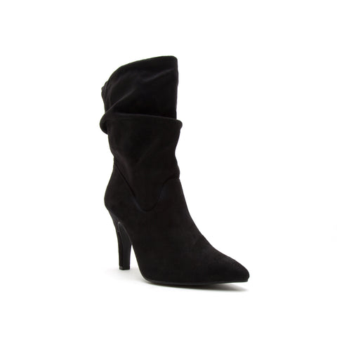 STARSHINE-01XX BLACK STRETCH SUEDE PU
