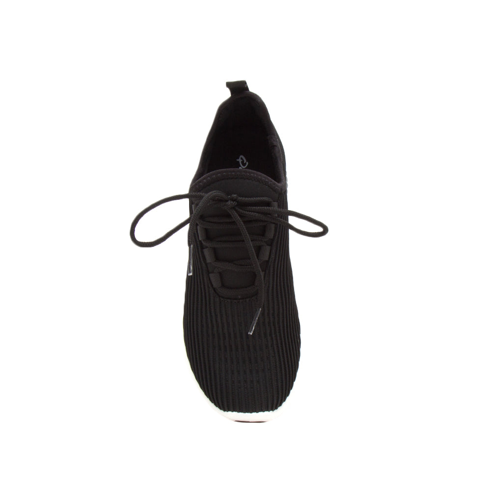 TANK-01 BLACK FLY KNIT FRONT VIEW