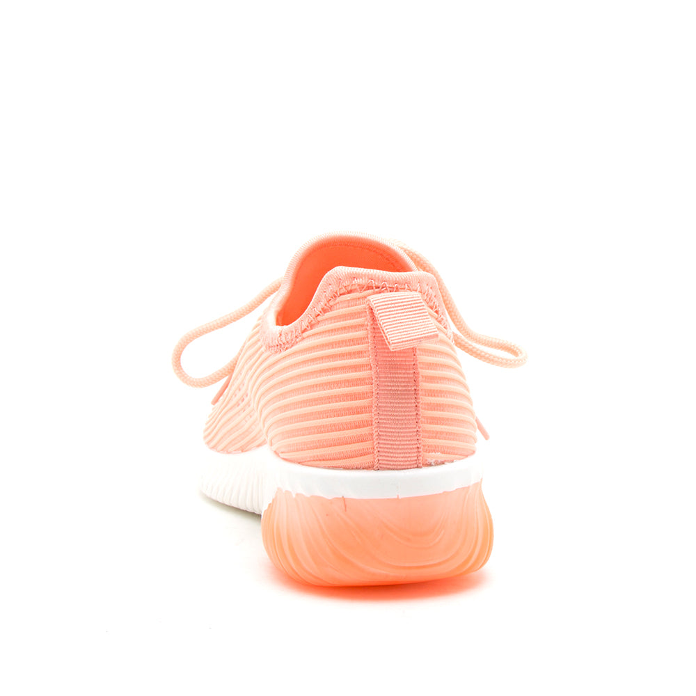 TANK-01 NEON CORAL FLY KNIT BACK VIEW