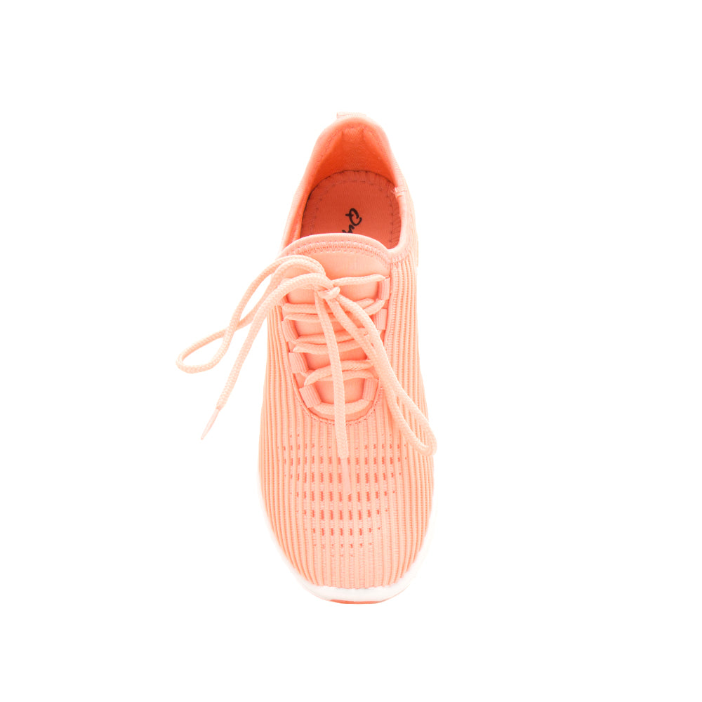 TANK-01 NEON CORAL FLY KNIT FRONT VIEW