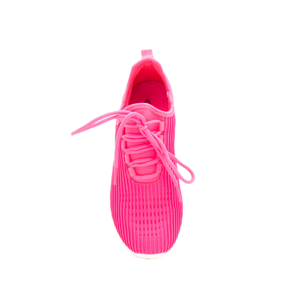 TANK-01 NEON FUCHSIA FLY KNIT FRONT VIEW