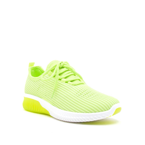 TANK-01 NEON YELLOW FLY KNIT