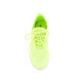 TANK-01 NEON YELLOW FLY KNIT FRONT VIEW