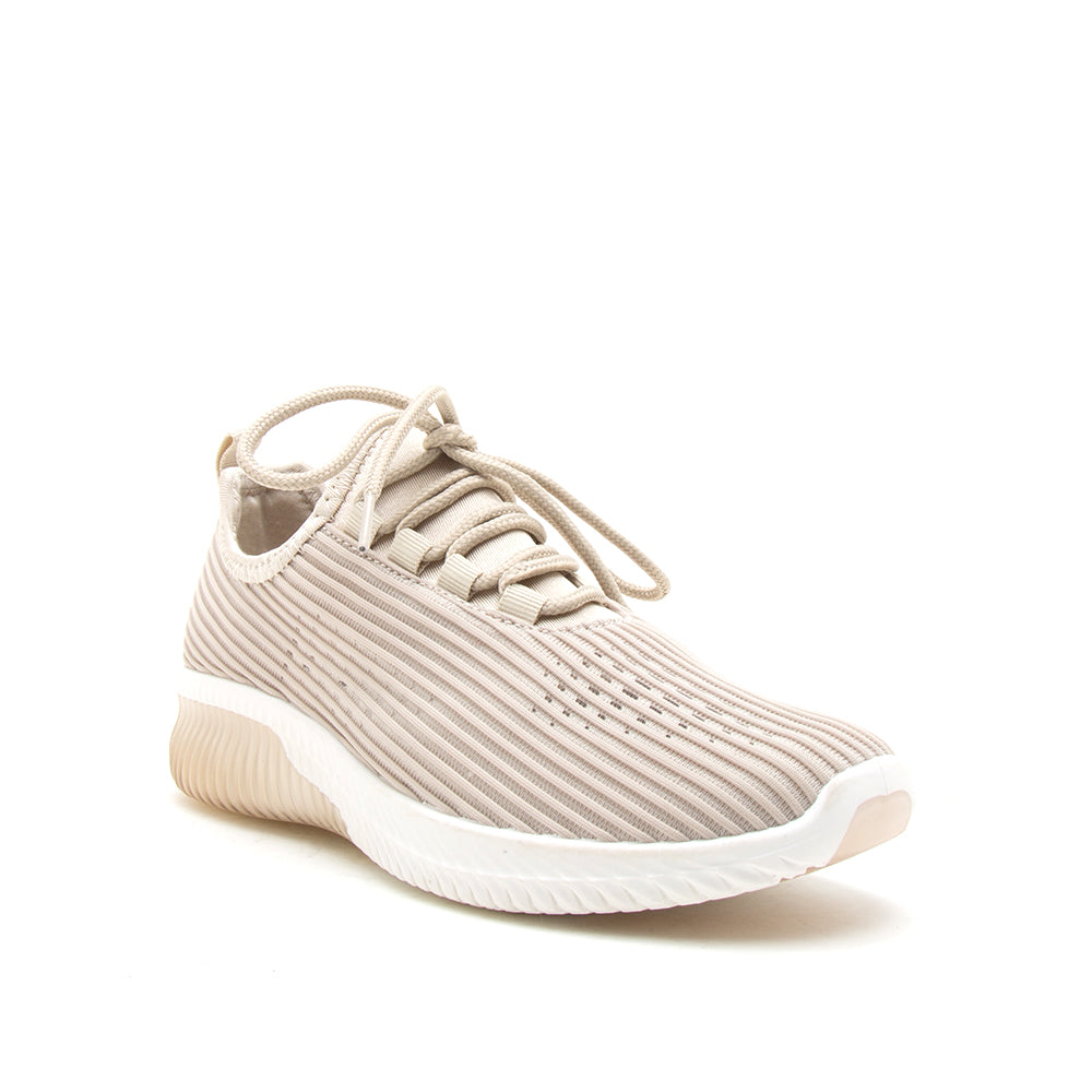TANK-01 TAUPE FLY KNIT 1/4 VIEW