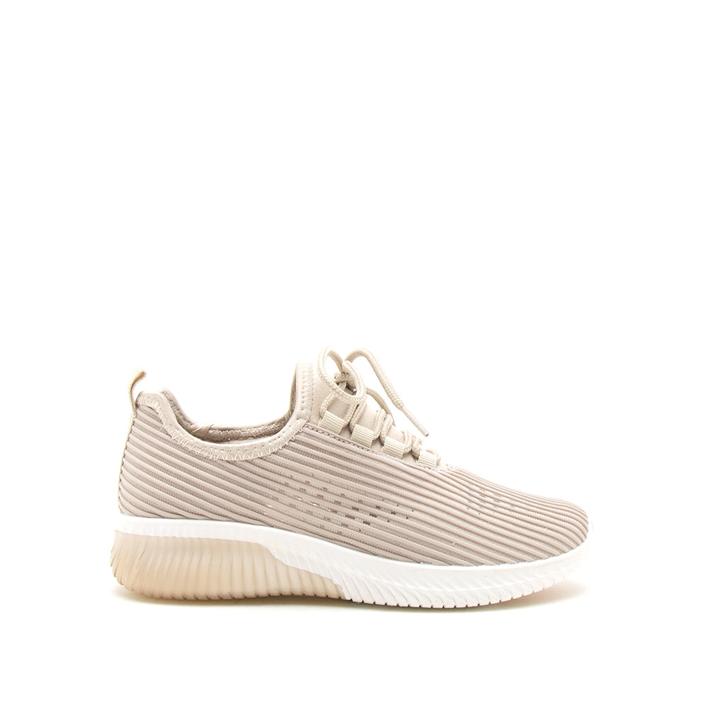 TANK-01 TAUPE FLY KNIT 1/2 VIEW