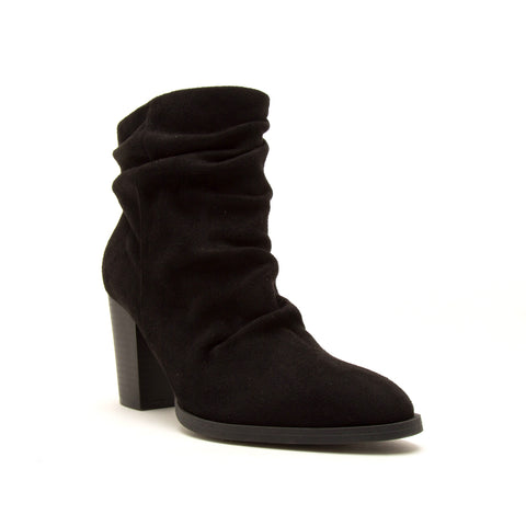 TIBER-42 BLACK STRETCH SUEDE PU