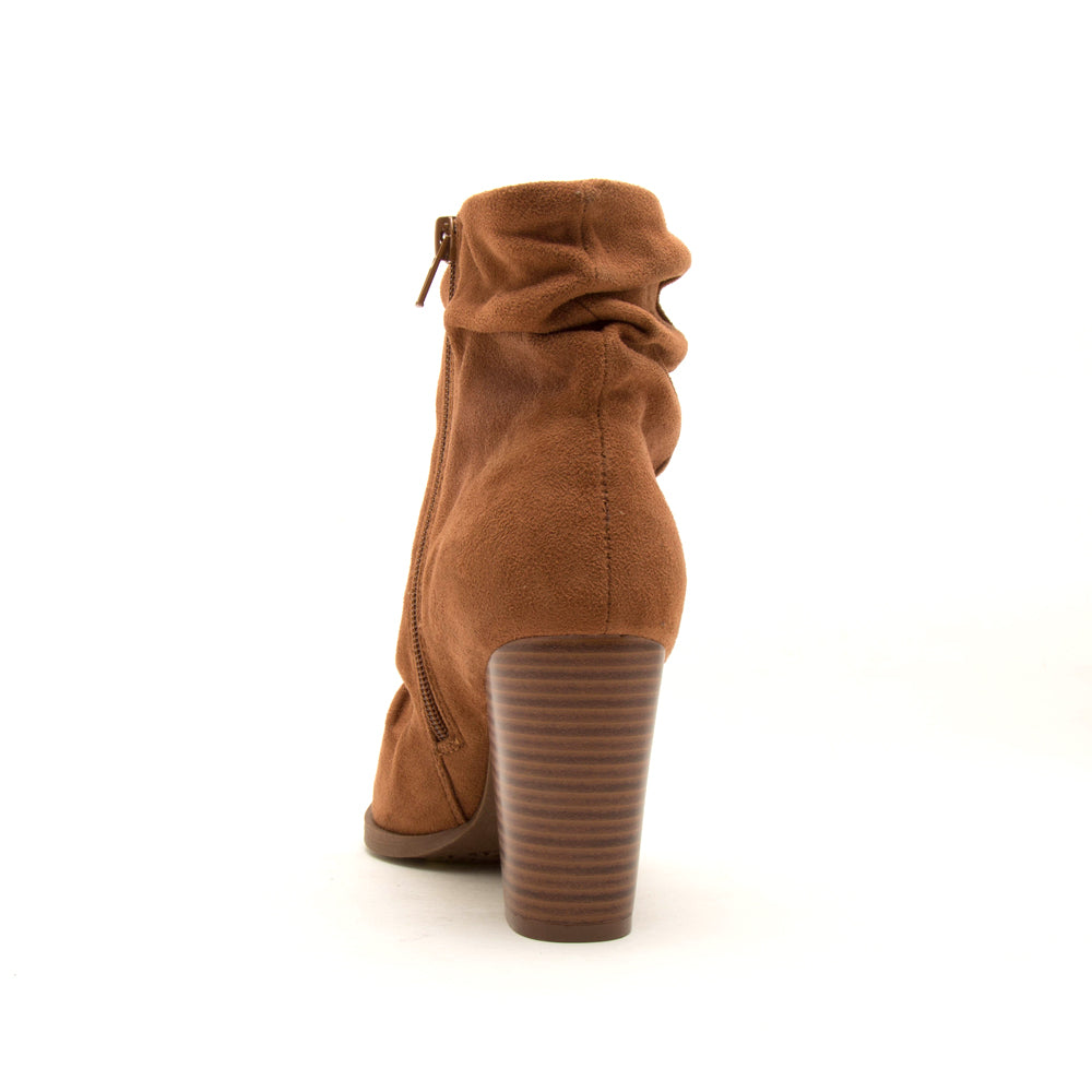TIBER-42 CAMEL STRETCH SUEDE PU BACK VIEW
