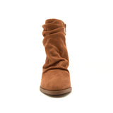 TIBER-42 CAMEL STRETCH SUEDE PU FRONT VIEW