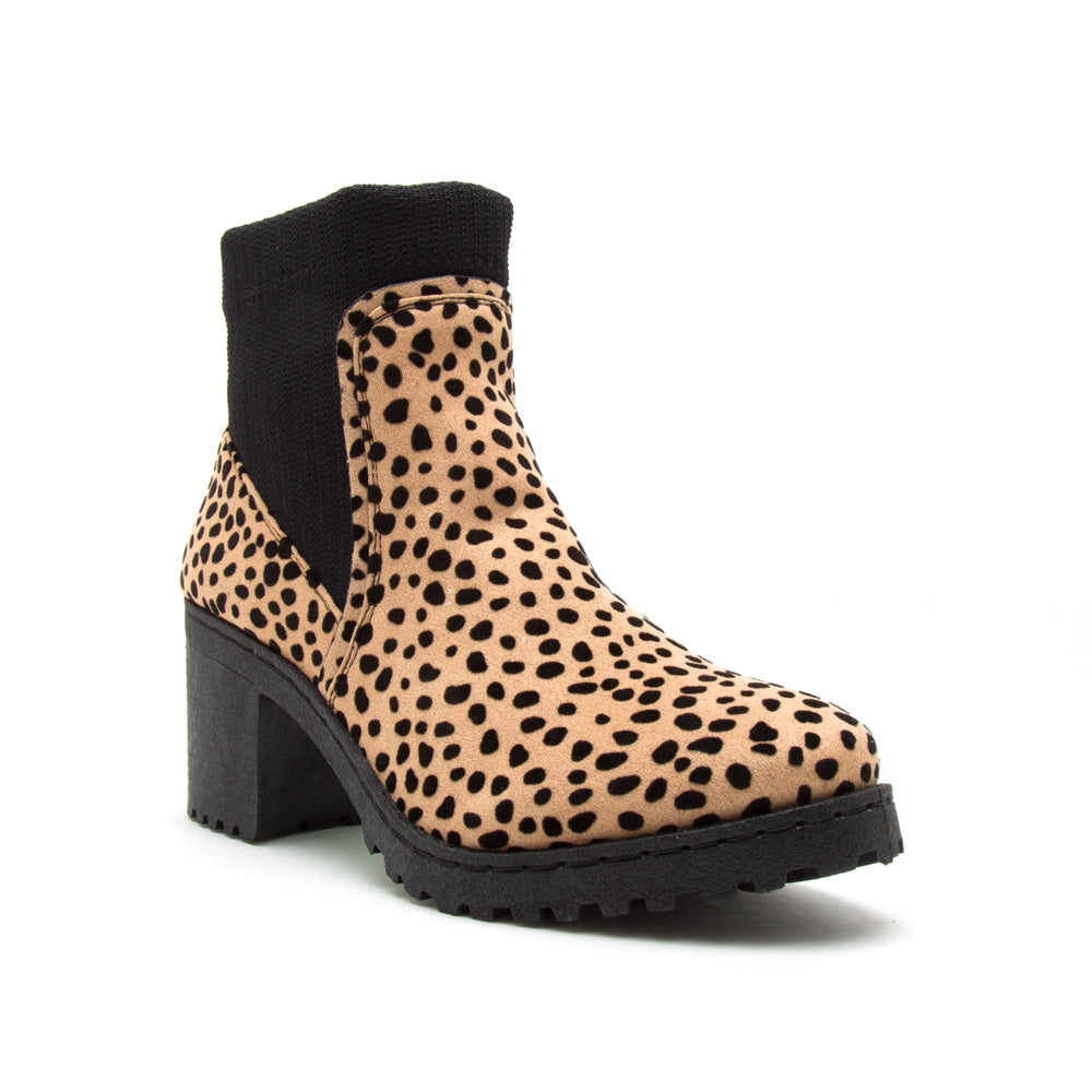 TIMOTHY-01AXX TAN BLACK LEOPARD SUEDE PU