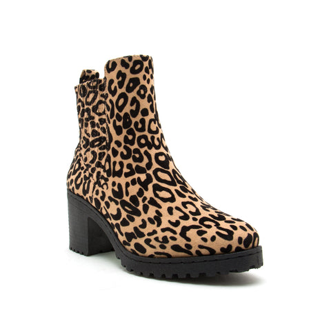 TIMOTHY-14AXX TAN BLACK LEOPARD STRETCH SUEDE PU