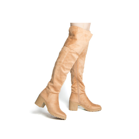 TIMOTHY-16AX TOFFEE KNEE HIGH BOOT